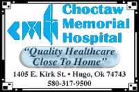 Choctaw Memorial Hospital  (Sidebar Below E-Edition)