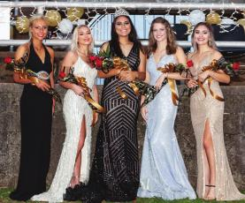 Hugo 2020 Homecoming Queen and her Court...