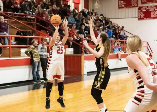 Soper's Kamryn Sellers knocked down a buzzer beating three to end the third quarter for the Lady Red Bears last Thursday night.