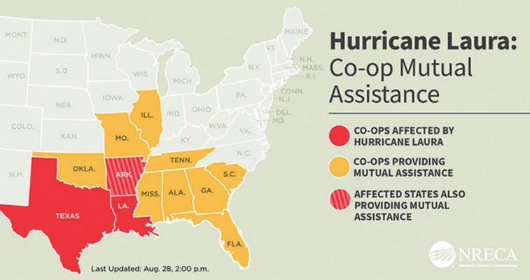 Oklahoma's electric co-ops send help following Hurricane Laura