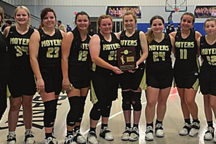 Moyers Lady Tigers win District Championship against the Stringtown Lady Tigers